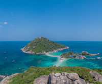 Aerial view of beautiful Koh Nang Yuan island in Thailand