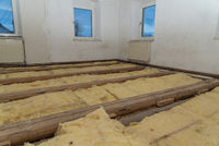 Thermal insulation in house building - mineral wool