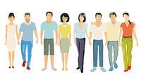 Couples - partnership, parents, adults Illustration
