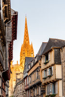 Cityscape of the town of Quimper in Brittany