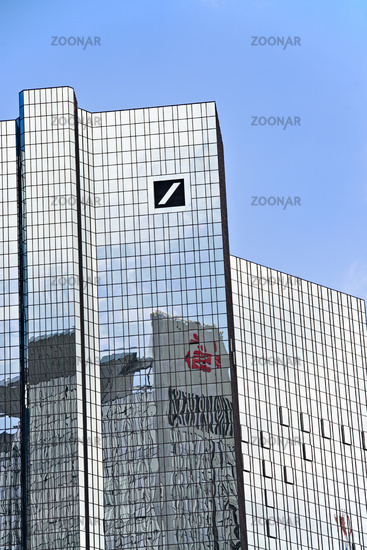 Deutsche Bank in Frankfurt with logo