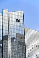 Deutsche Bank in Frankfurt with logo