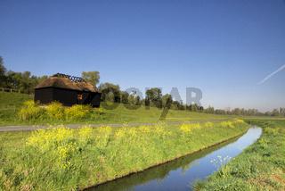 Ditch in a meadow near Hank