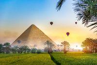 Pyramid in field
