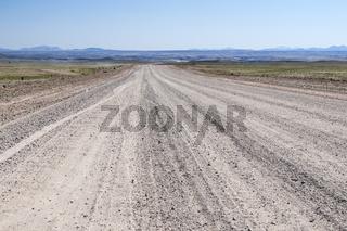 Landschaft mit gerader Strasse