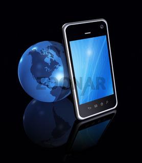 Smartphone And World Globe