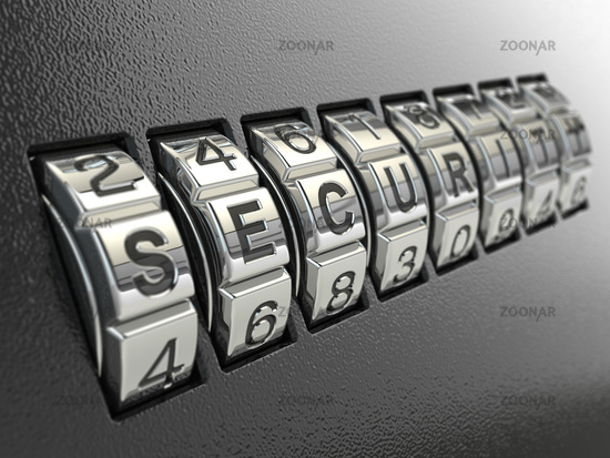 Security password combination concept,