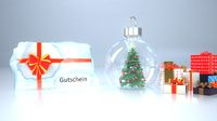 Gutschein Ice Christmas Tree Snow Ball
