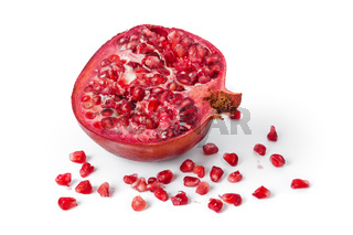 Big ripe pomegranate