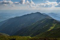 Summer mountain top landscape