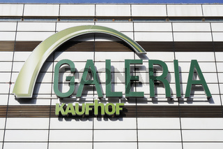 Galerie Kaufhof logo sign on facade of local department store branch in Hannover, Germany on March 2, 2020