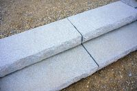 stairs with steps made from  granite