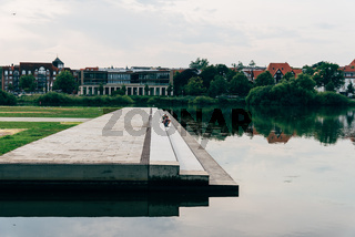 Park at Burgsee lake near to Schwerin Castle