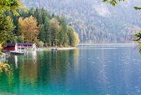 Eibsee,Eibsee is a lake in B Bavarian lake near Zugspitze