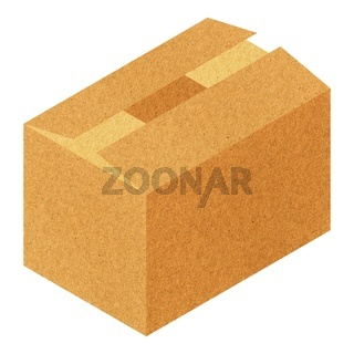 brown corrugated cardboard box isolated over white