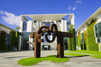Sculpture in front of German Chancellery, Berlin, Germany