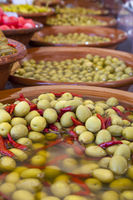 Sale of pickled olives, Mallorca
