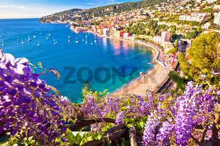 Villefranche sur Mer idyllic French riviera town colorful beach view