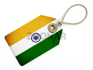 India flag on isolated tag