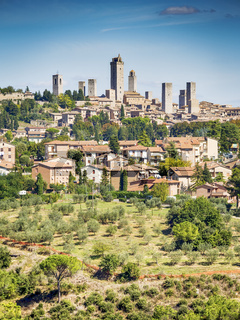 View to San Gimignano