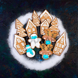 Composition with Christmas cookies.