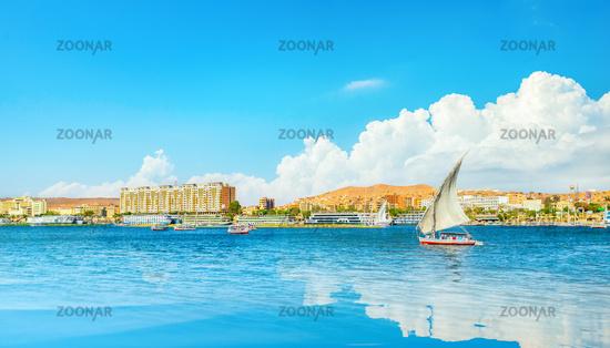 Blue sky over Nile