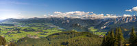 panoramic landscape at Allgaeu in Bavaria