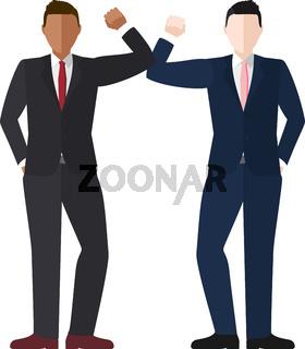 Businessmen Elbow Bump Vector