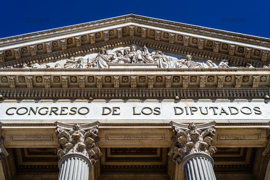 Congress of Deputies of Spain in Madrid