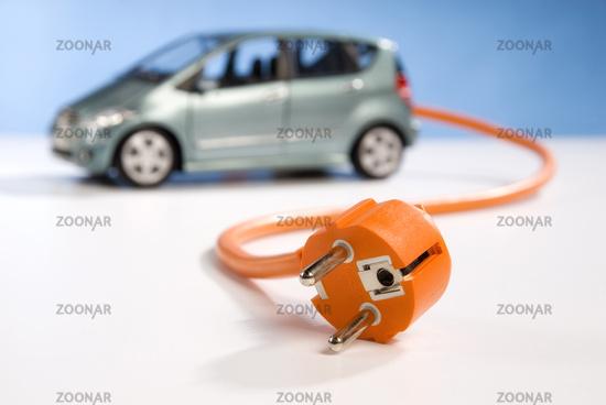 E-Car and plug