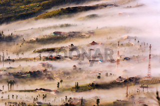 Foggy and misty morning creates very nice textures in Cemorolawang which is a village near Mt.Bromo,Java Indonesia