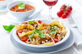 Pasta with a tomato bolognese beef sauce