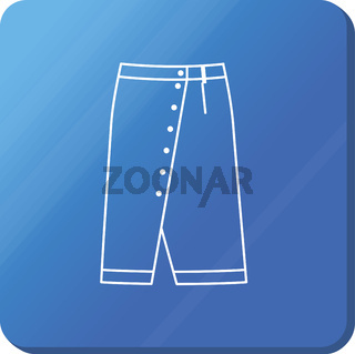 Skirt icon. Simple outline skirt vector icon.
