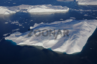Ilulissat icefjord from above