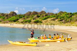 Sea kayaking - Coles Bay