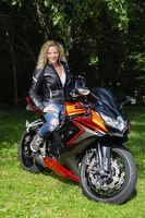 Twenty something motocyclist