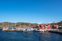 Hafen auf der Insel Dyrön in Schweden