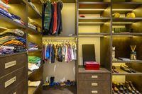 Large luxury men's wardrobe