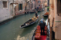 Venice, the gondolas