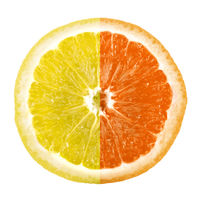 Mix of lemon and orange