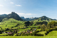 Landscape in Toggenburg near Nesslau, Canton St. Gallen, Switzerland