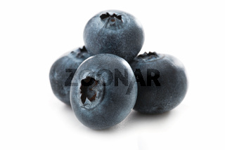 Fresh blueberries isolated