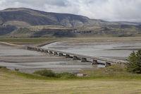 Single bridge in the landscape, Iceland