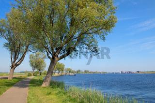 River Het Spaarne in Dutch Haarlem