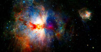 Colourful view of the Universe. Elements of this image furnished by NASA