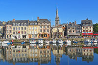 Houses at Vieux Port of Honfleur / France