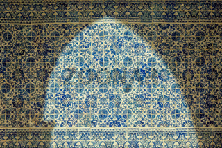 portugal tiles azulejos and arch shadow