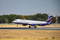 Flugzeug von Aeroflot bei der Landung