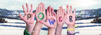Children Hands Building Word Power, Winter Scenery