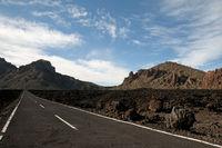 Highway, Teide National Park, Tenerife, Canary Islands, Spain, Europe
